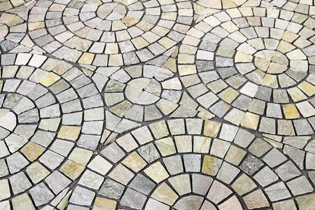 cobble: Modello cerchio di nuovo a terra ciottoli pietre
