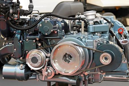 diesel engine: Close up shot of powerful diesel engine
