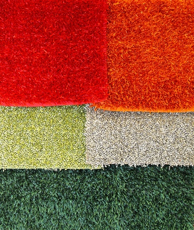 shaggy: Modern shaggy carpets and rugs selection Stock Photo