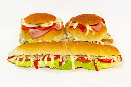 Two buns and one big juicy sandwich Stock Photo - 12351019