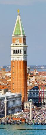 VENICE, ITALY - SEPTEMBER 26: St. Marks campanele tower in Venice on SEPTEMBER 26, 2009. Famous St. Marks campanele tower in Venice, Italy. Stock Photo - 12147735