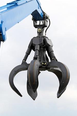 maquinaria pesada: Garra de la gr�a equipos de maquinaria pesada Foto de archivo