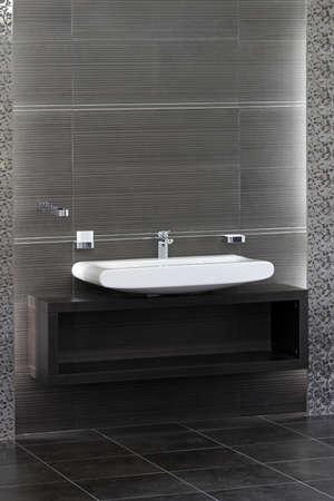 Bathroom sink and interior in minimalist style Stock Photo - 12880153