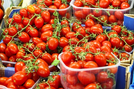 Bunch of cherry tomatoes at the farmers market Stock Photo - 12880497