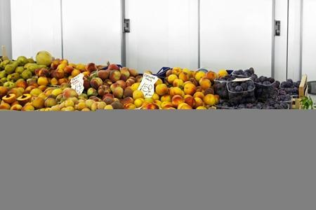 All kind of fresh fruits at farmers market Stock Photo - 12880443