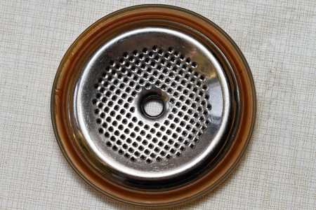 Clean filter for espresso coffee maker  Stock Photo - 12997340