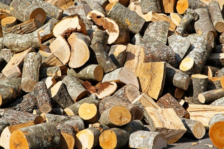Big pile of firewood logs for winter Stock Photo - 12974288