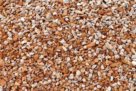 on aggregate: Texture of aggregate gravel for construction industry