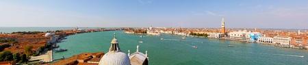 VENICE, ITALY - SEPTEMBER 26: Aerial cityscape panorama of Venice on SEPTEMBER 26, 2009. Aerial cityscape panorama of Venice, Italy. Stock Photo - 13062781