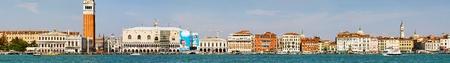 VENICE, ITALY - SEPTEMBER 26: Long cityscape panorama of Venice on SEPTEMBER 26, 2009. Long cityscape panorama of Venice, Italy. Stock Photo - 13062782