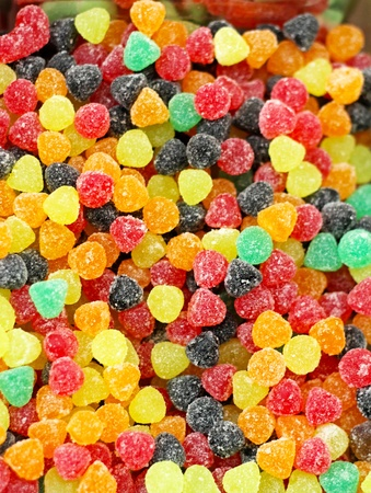 confect: Big pile of colorful tasty gummy candies
