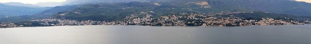 Panoramic cityscape of Herceg Novi in Montenegro photo