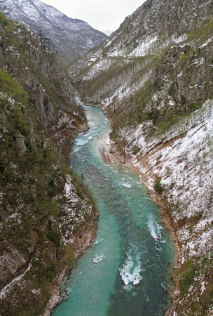tara: Tara river with deep canyon in Montenegro