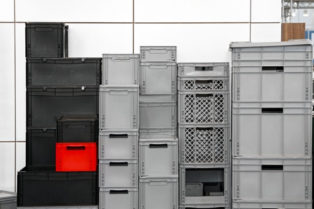 Big pile of commercial packing crates and boxes Stock Photo - 13915876
