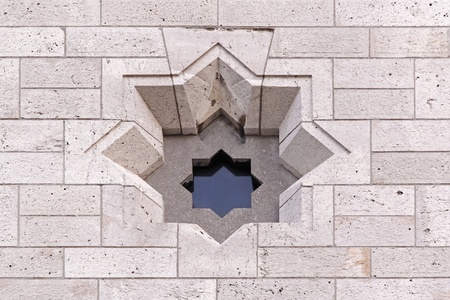 Window in David star shape at Place of Worship Stock Photo - 20355760