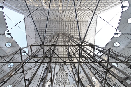 structural: Elevator structure at building exterior in Paris