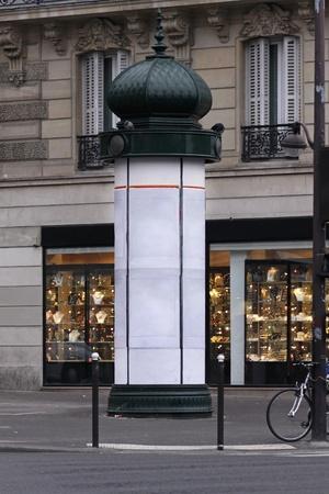 kiosk: Classic style advertising kiosk column in Paris