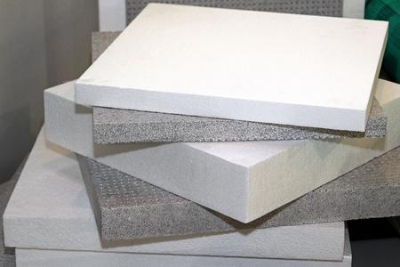 La mousse de polystyrène pour l'isolation thermique et l'étanchéité Banque d'images
