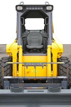 front loader: Minicargadoras máquina cargadora frontal en el sitio de construcción