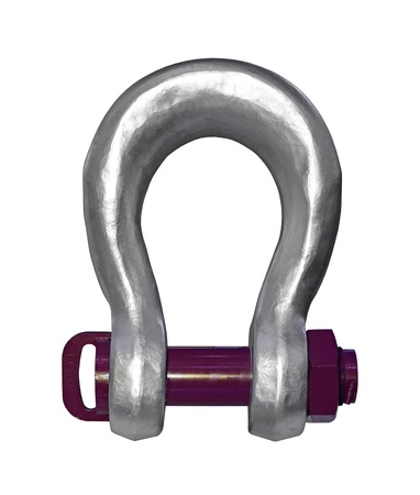 gyve: Heavy duty shackle isolated with clipping path