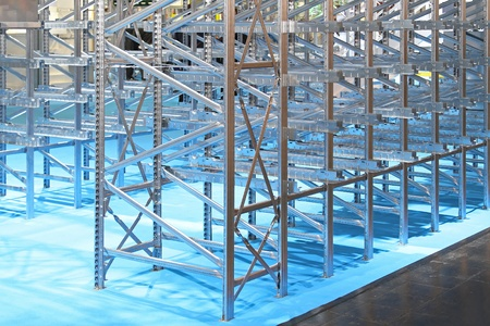 Metal shelving system in new distribution warehouse Stock Photo - 20459098