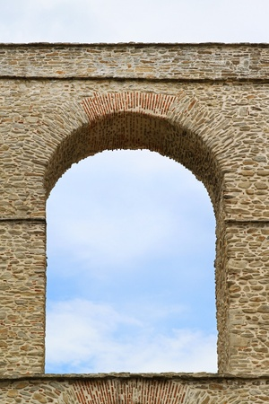Arch at old Byzantine aqueduct in Kavala Greece Stock Photo - 20459114