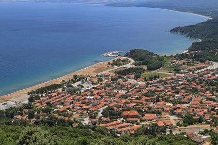 Stratoni at coast of the Chalkidiki peninsula in Northern Greece Stock Photo - 20471601