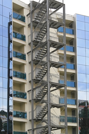 Building exterior fire escape stairs for emergency Stock Photo - 20470056