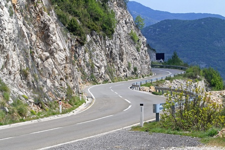 Mountain road with curves in Montenegro Stock Photo - 20471739