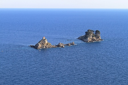 Two remote isolated islands in Adriatic sea Stock Photo - 20471574
