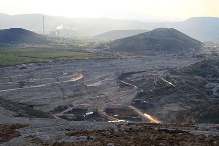 Coal mine excavation site in Pljevlja Montenegro Stock Photo - 20471582