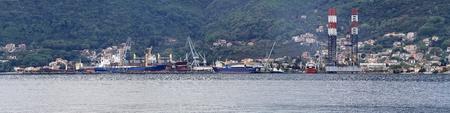 Ship construction in floating shipyard dock and platform panorama Stock Photo - 20471794
