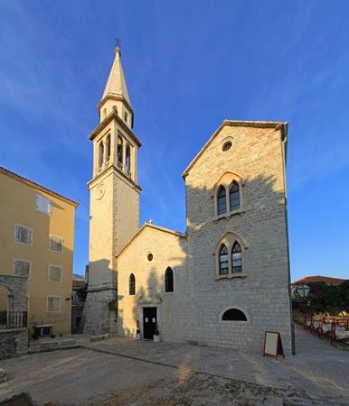 Saint Ivan Church with bell tower in Budva Montenegro Stock Photo - 20471812