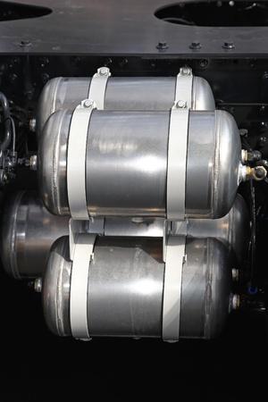Air compressor tanks for big truck brakes Stock Photo - 20471654