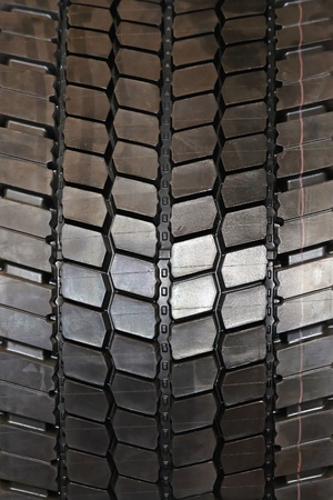New truck tyre with tread for heavy loads Stock Photo - 20471531