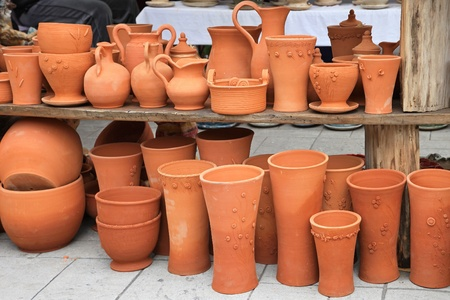 Handmade crafts of terracotta pottery and vases Stock Photo - 20471584