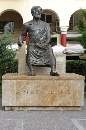 thessaloniki: THESSALONIKI, GREECE - JUNE 30: Aristotle statue in Thessaloniki on JUNE 30, 2011. Greek philosopher Aristotle sculpture at city square in Thessaloniki, Greece.