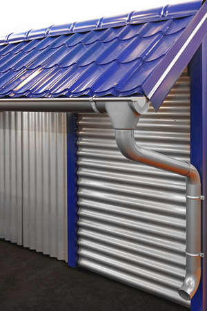 rainwater: Complete system of rain gutter for collects rainwater