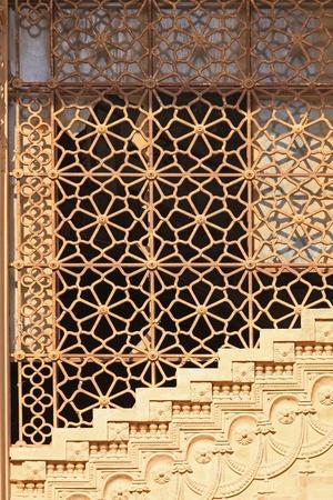 baron: Stone stairway and ornamental bars at Baron Palace Cairo