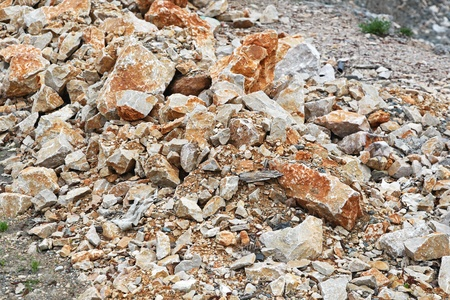geologic: Large pile of natural geologic construction materials