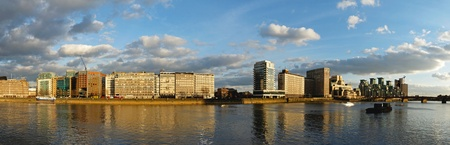 south london: Panoramic cityscape of Vauxhall in south London Stock Photo