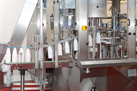 Food production machine  with conveyer belt photo