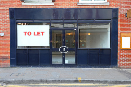 Vacant retail shop to let in London
