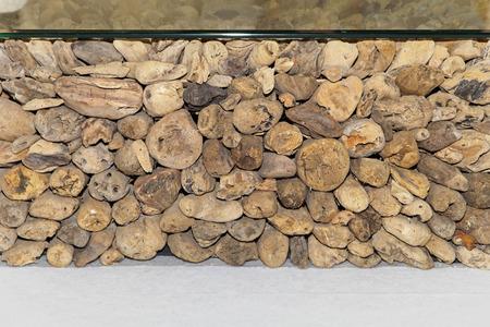 Big bunch of petrified wood texture photo