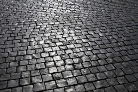 cobblestone street: Medieval cobblestone pavement at streets of Vatican