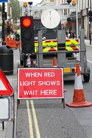 Traffic sign road works street repair maintenance