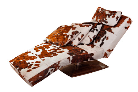 Cowhide chaise lounge