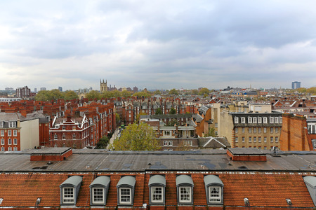 south west england: West view over South Kensington roofs in London