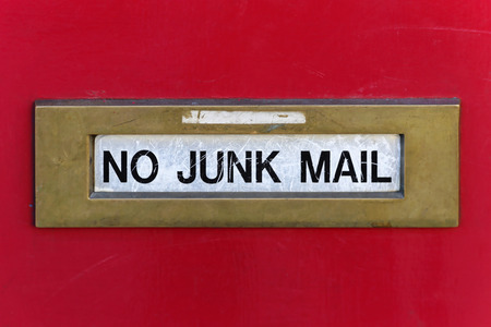 mail slot: Door with a no junk mail slot