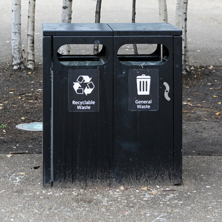 waster: Black bins for general waste and recycling